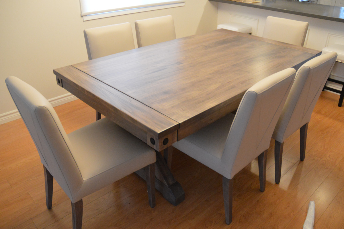 Solid Wood Trestle Dining Tables  Urban  Toronto