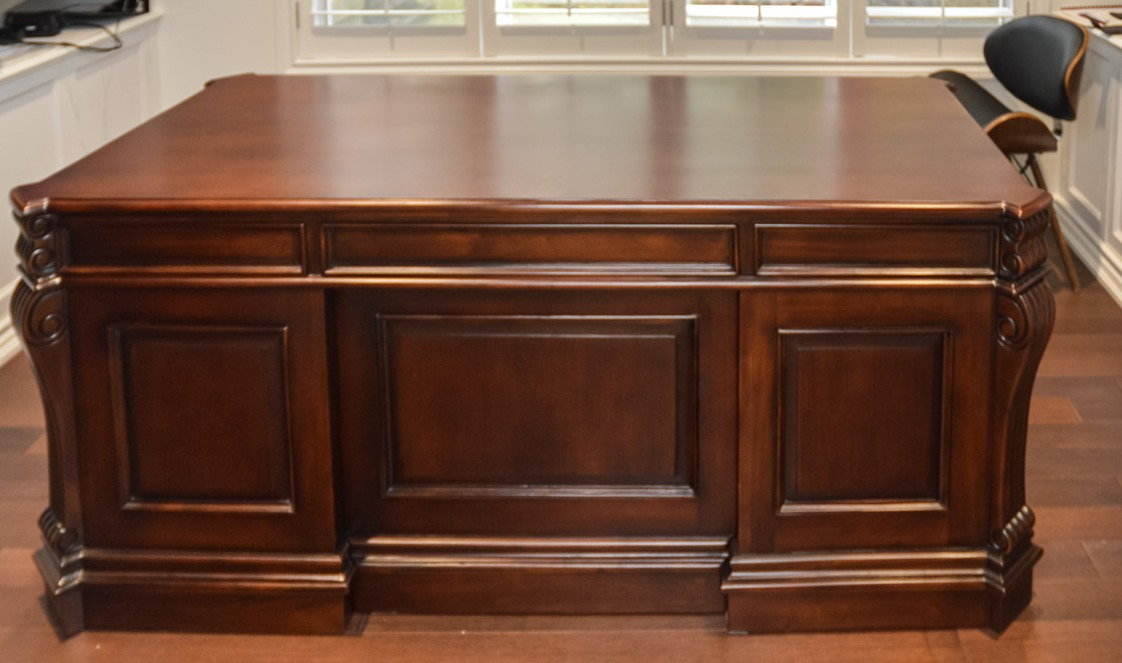 Wood Executive Desk To Zoom