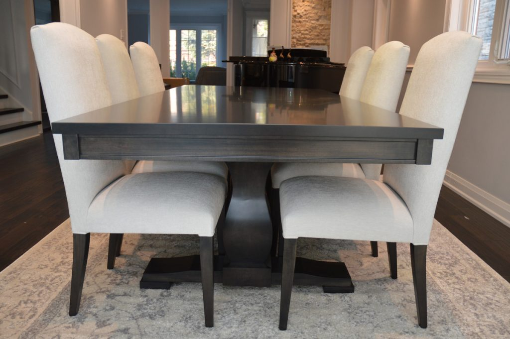 Solid wood table made in canada