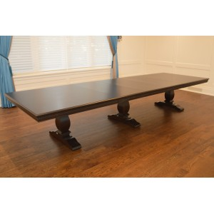 Long 16 Foot Triple Pedestal Dining Table – Built in Canada