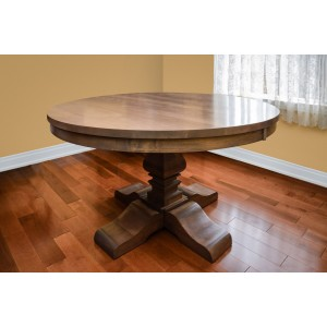 Large Round Table Solid Wood Made in Canada